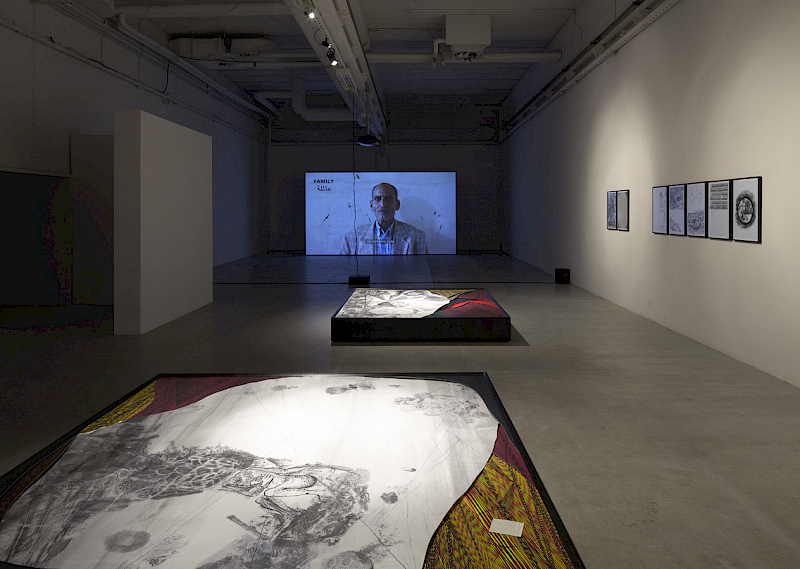 "Installation view from ""Disastrous Dialogue"" – IMO Projects, Copenhagen, Denmark"