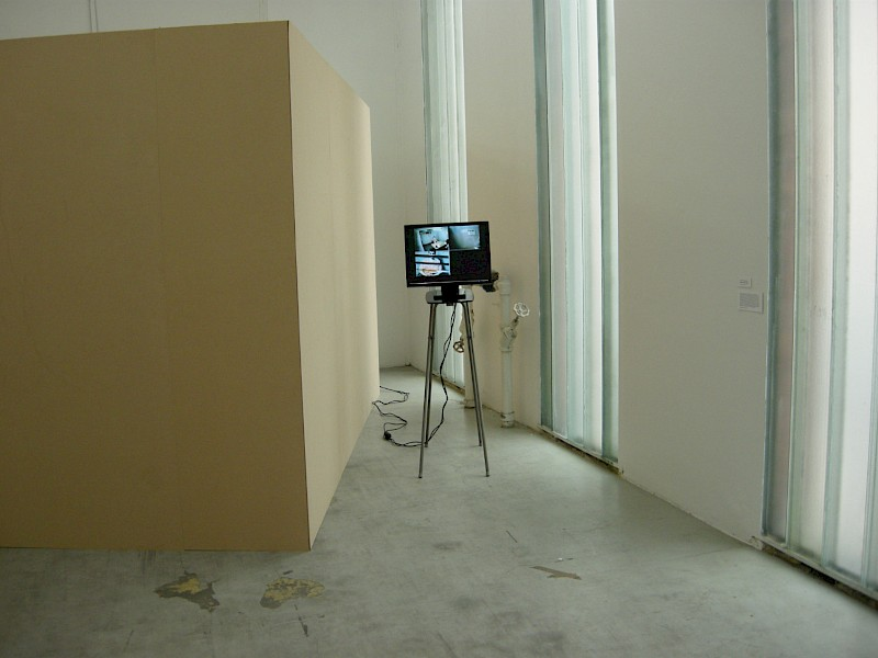 "Installation view from ""CRW - Contemporary Reflections on War"", BKS Garage, Cph"